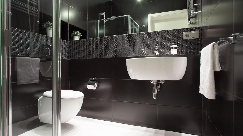 Wohnzimmer mit streifen schwarz weis grau – midir